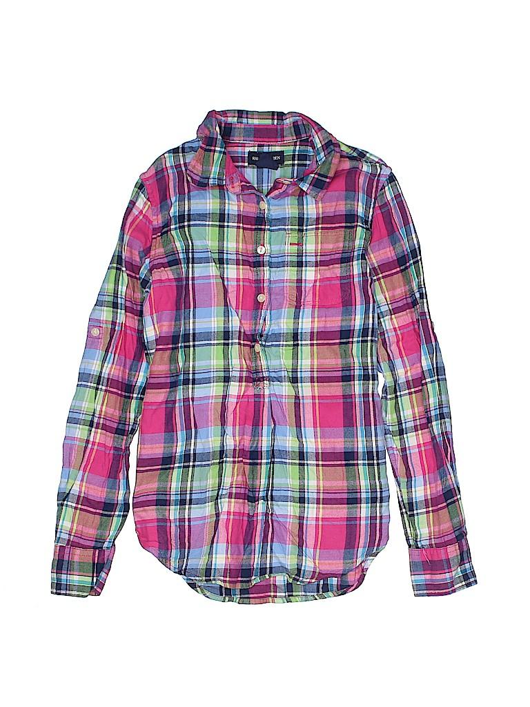 Ralph Lauren Girls Long Sleeve Button-Down Shirt Size 10