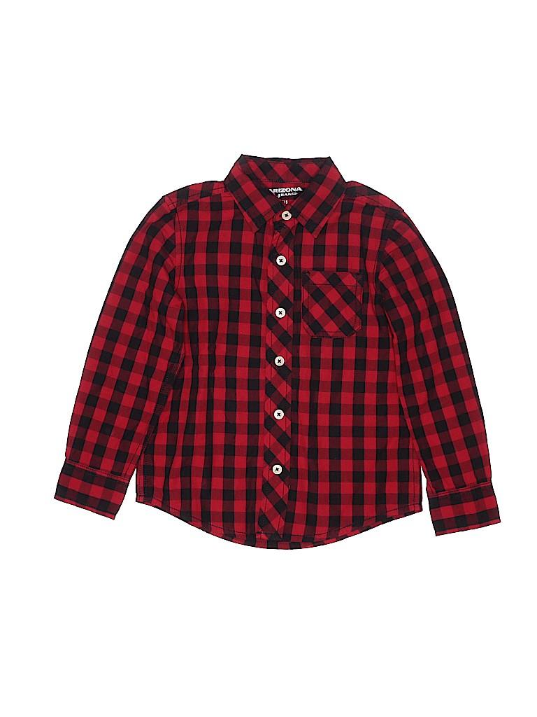 Arizona Jean Company Girls Long Sleeve Button-Down Shirt Size 5T