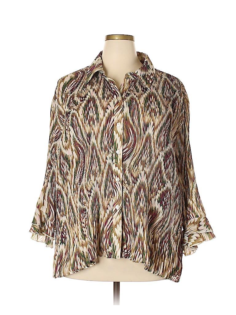 Essentials Women Long Sleeve Blouse Size 2X (Plus)
