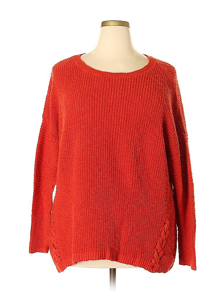 Cj Banks Women Pullover Sweater Size 2X (Plus)