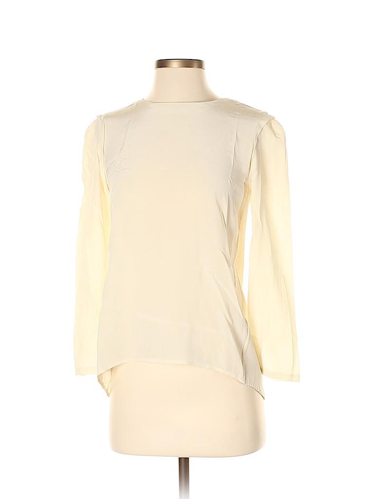 Steven Alan Women 3/4 Sleeve Silk Top Size S