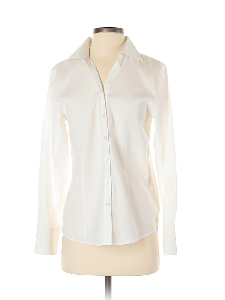 Talbots Women Long Sleeve Button-Down Shirt Size 4