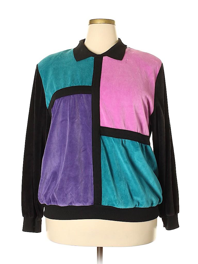 Alfred Dunner Women Sweatshirt Size 2X (Plus)