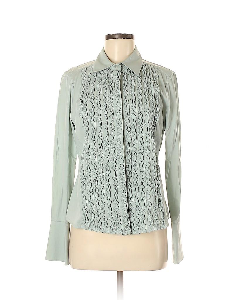 BCBGMAXAZRIA Women Long Sleeve Button-Down Shirt Size M