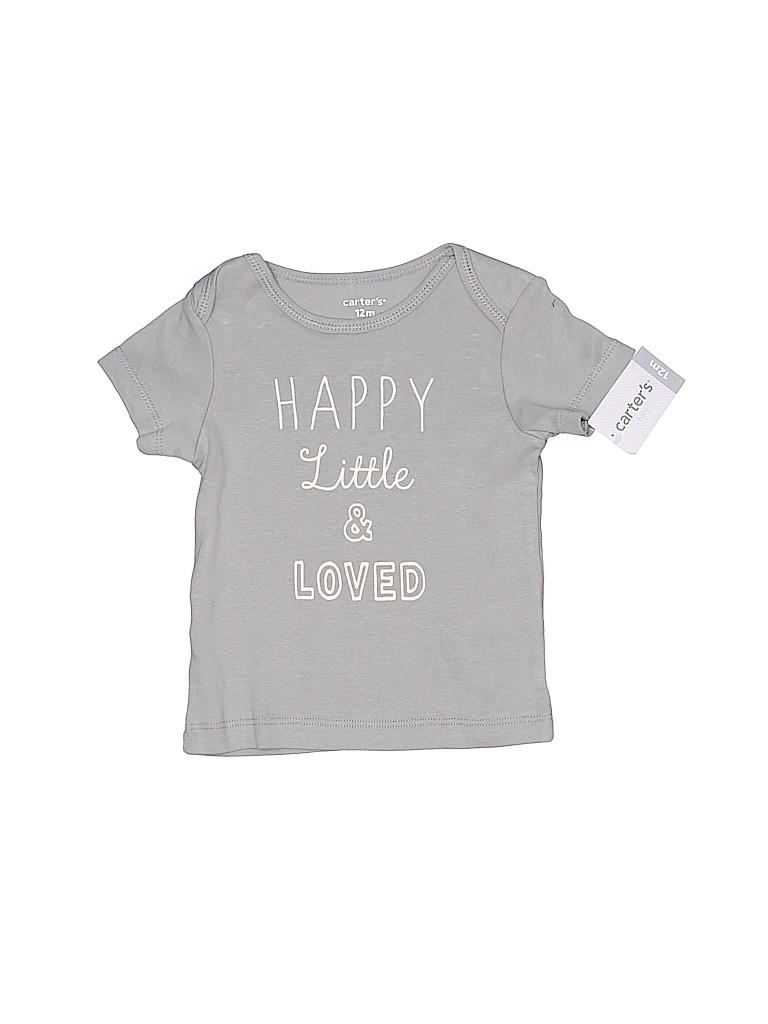 Carter's Girls Short Sleeve T-Shirt Size 12 mo