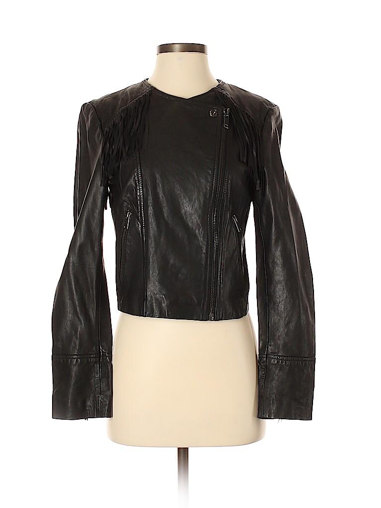 Banana Republic Women Leather Jacket Size S