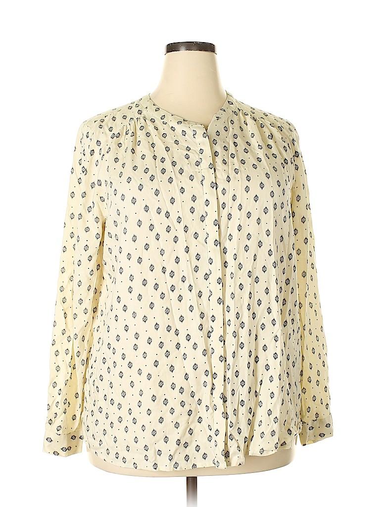Lucky Brand Women Long Sleeve Button-Down Shirt Size XL