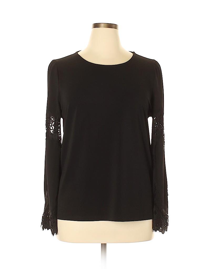 Adrianna Papell Women Long Sleeve Blouse Size XL
