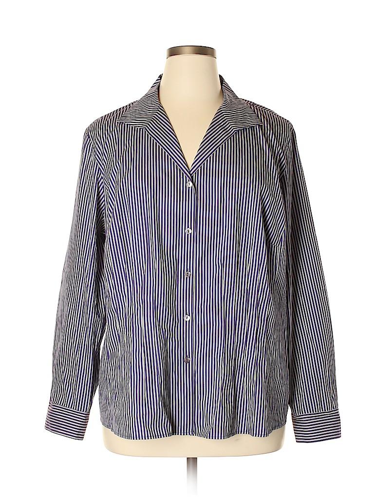 Lafayette 148 New York Women Long Sleeve Button-Down Shirt Size 20 (AU) (Plus)