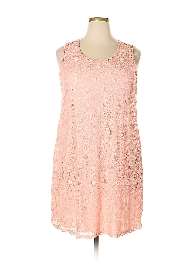 Pink Blush Women Casual Dress Size 2X (Plus)