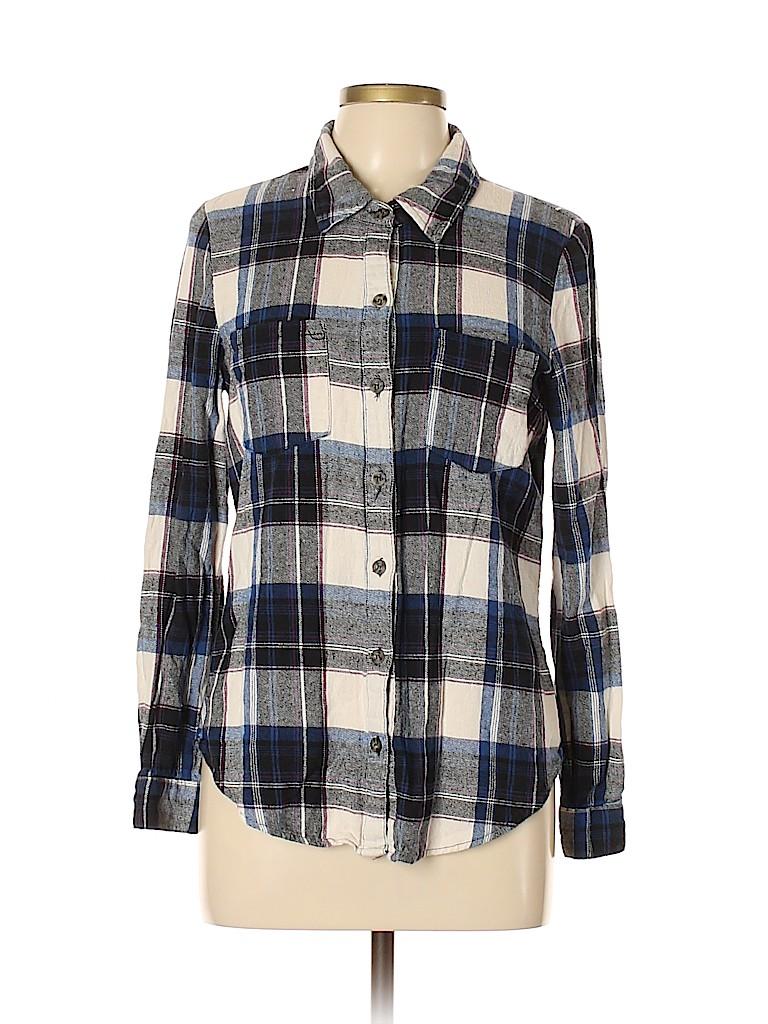 Mimi Chica Women Long Sleeve Button-Down Shirt Size L