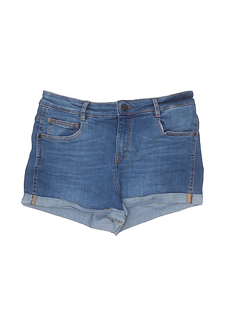 Mango Women Denim Shorts Size 8