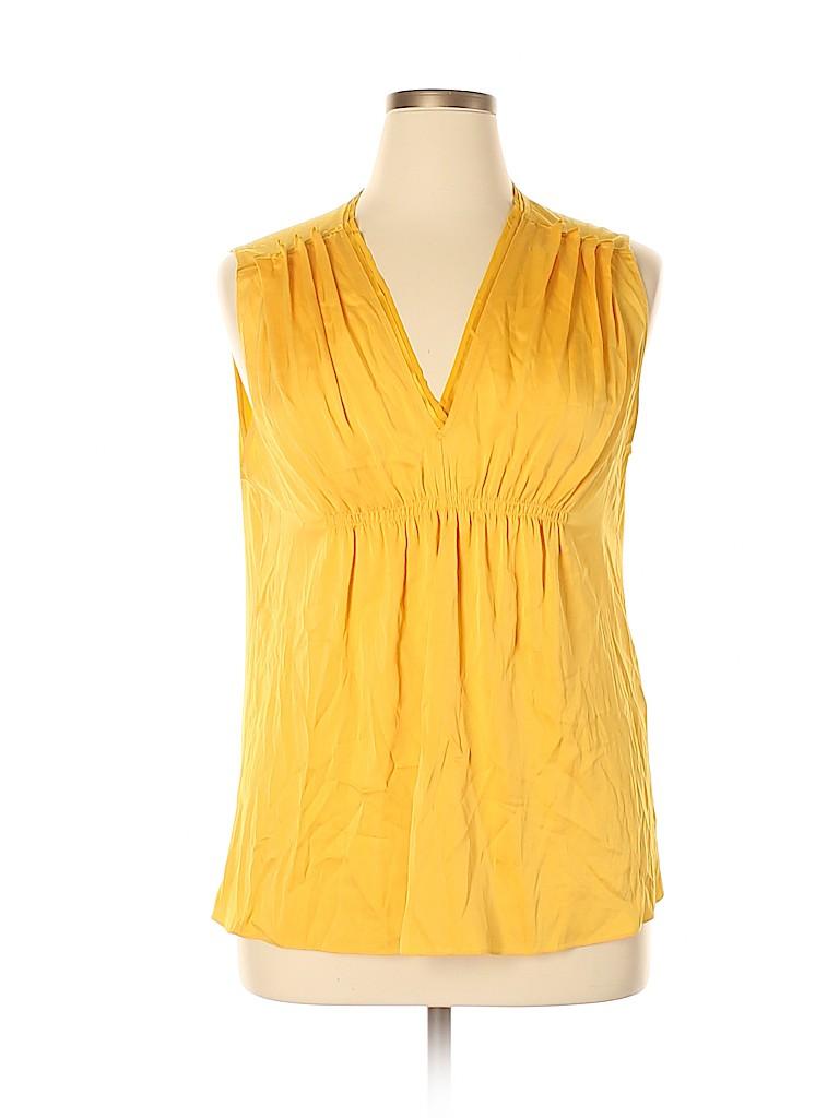 Elie Tahari Women Short Sleeve Silk Top Size XL
