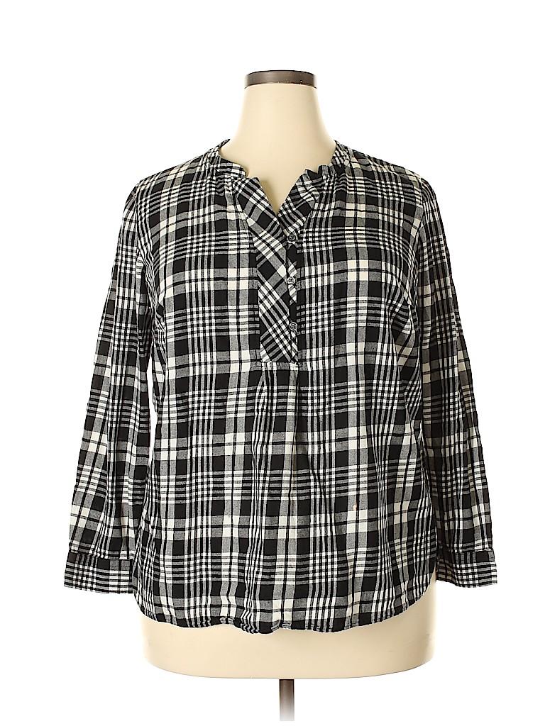 Talbots Women Long Sleeve Blouse Size 1X (Plus)