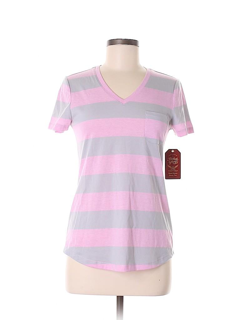 Faded Glory Women Short Sleeve T-Shirt Size M