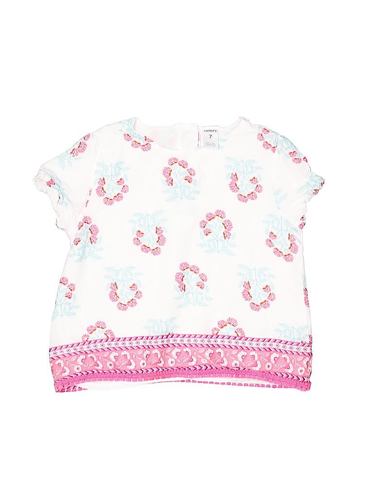 Carter's Girls Short Sleeve Blouse Size 7