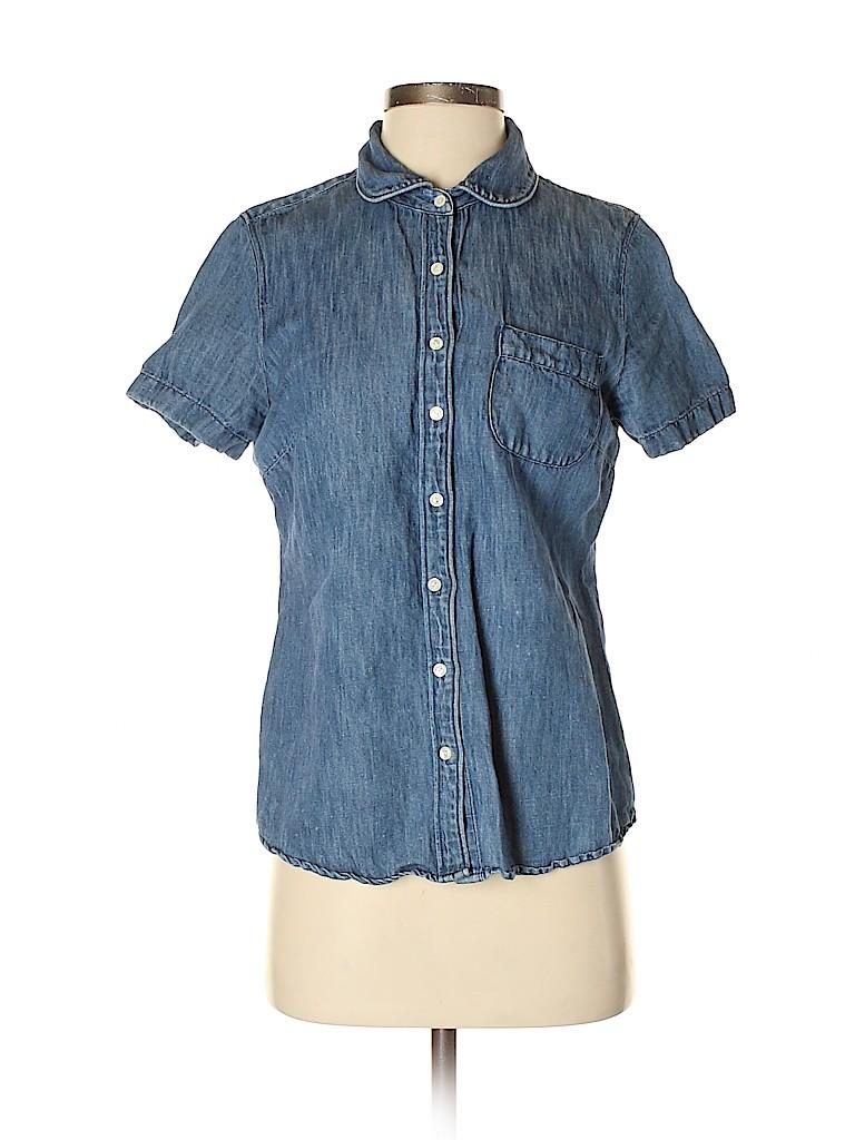 J. Crew Women Short Sleeve Blouse Size 4