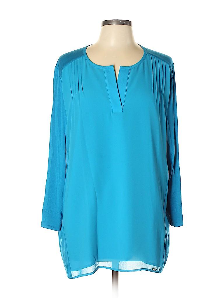 Calvin Klein Women 3/4 Sleeve Blouse Size XL