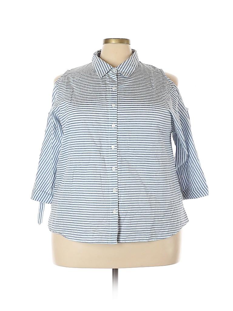 Style&Co Women 3/4 Sleeve Top Size 2X (Plus)