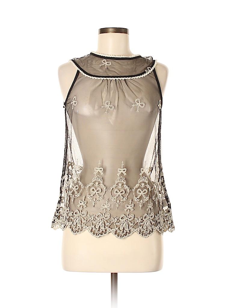 Monteau Women Sleeveless Top Size M