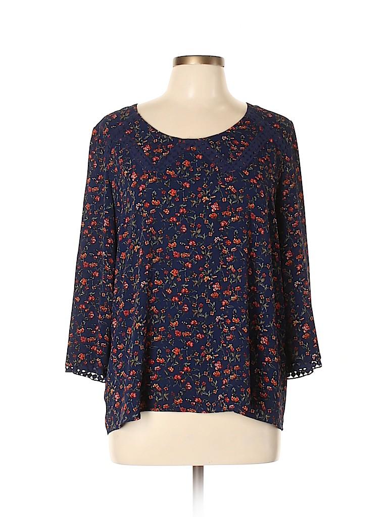 Collective Concepts Women 3/4 Sleeve Blouse Size L
