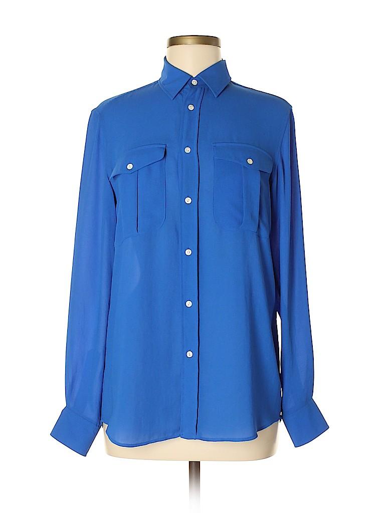 Polo by Ralph Lauren Women Long Sleeve Blouse Size S