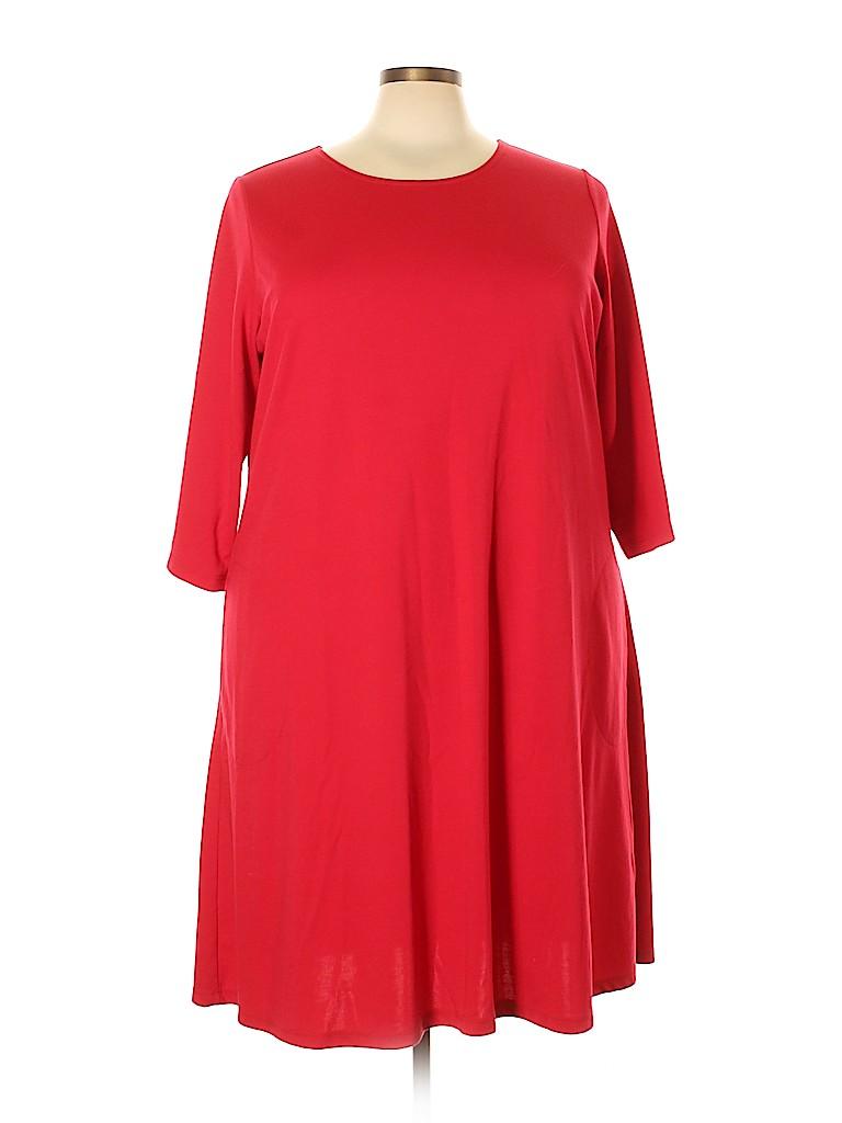 Susan Graver Women Casual Dress Size 3X (Plus)