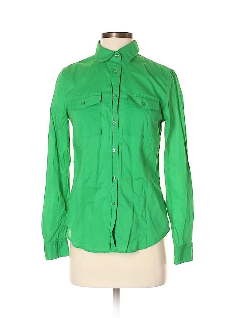 MICHAEL Michael Kors Women Long Sleeve Button-Down Shirt Size S