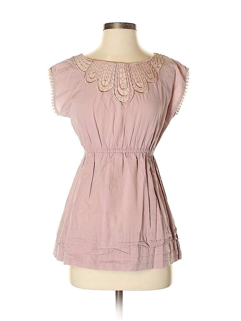 Ranna Gill Women Short Sleeve Blouse Size S