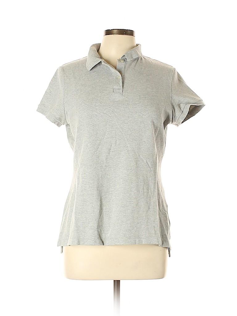 Lands' End Canvas Women Short Sleeve Polo Size L