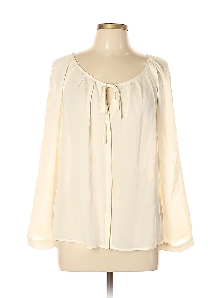 Joie Women Long Sleeve Silk Top Size L