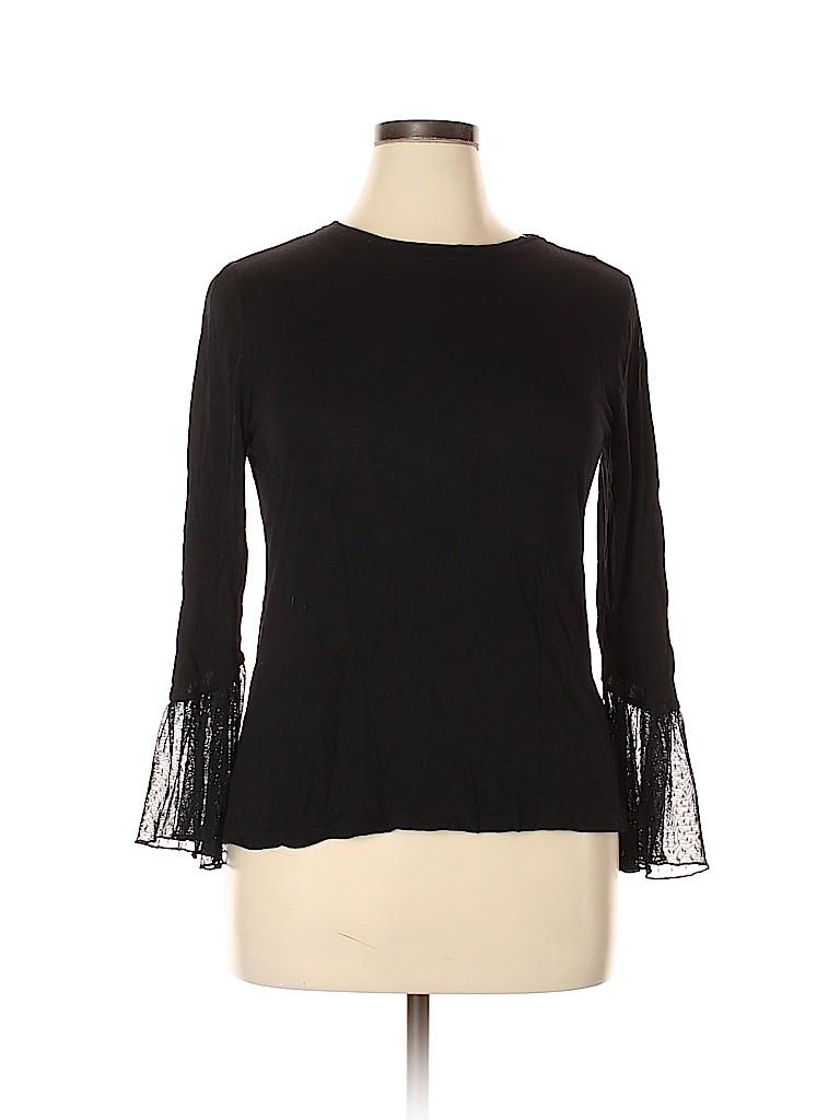 ELOQUII Women Long Sleeve Top Size 14 - 16 Plus (Plus)