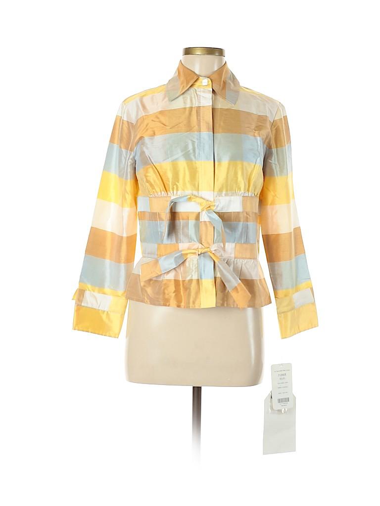 Carlisle Women Long Sleeve Silk Top Size 6