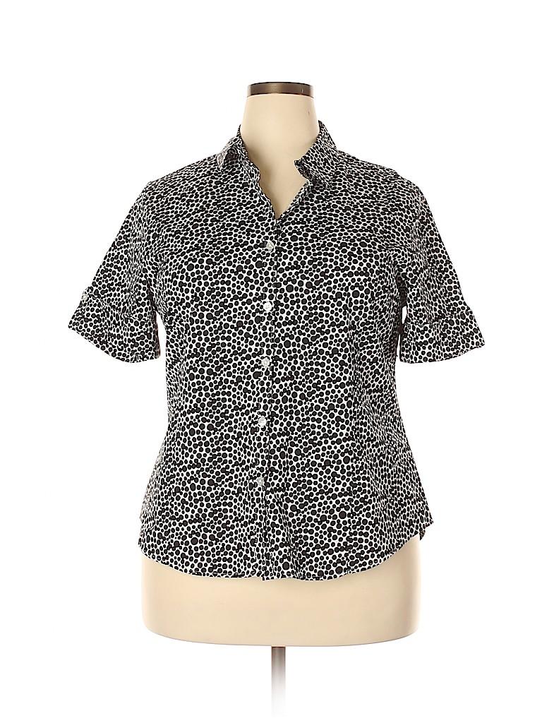 George Women Short Sleeve Button-Down Shirt Size XXL