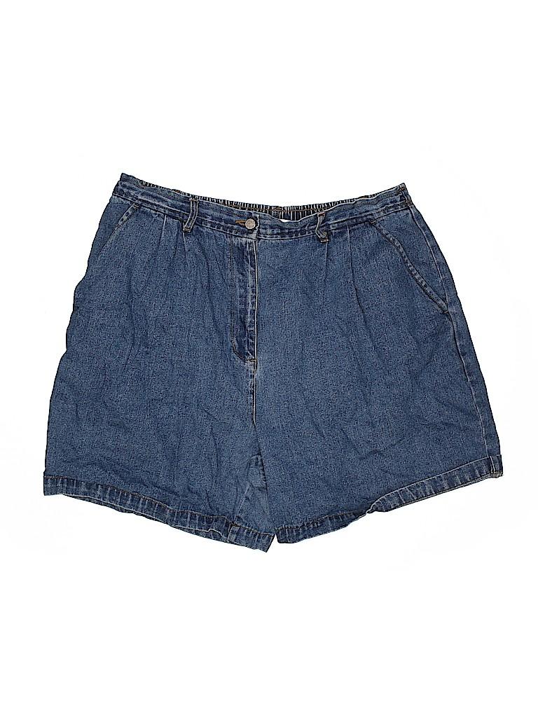 Bill Blass Women Denim Shorts Size 18 (Plus)