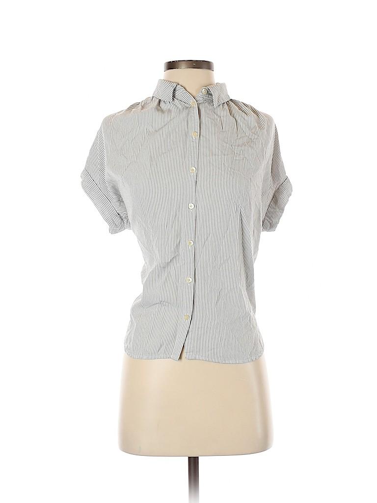 Madewell Women Short Sleeve Button-Down Shirt Size S