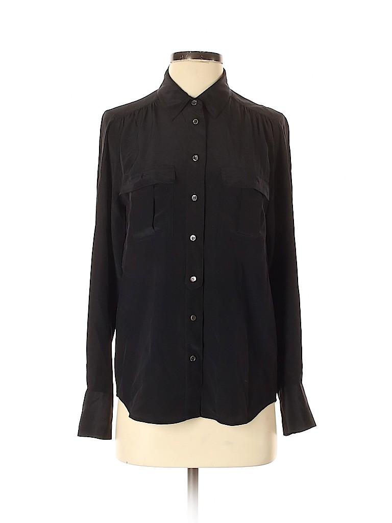 J. Crew Women Long Sleeve Silk Top Size 2