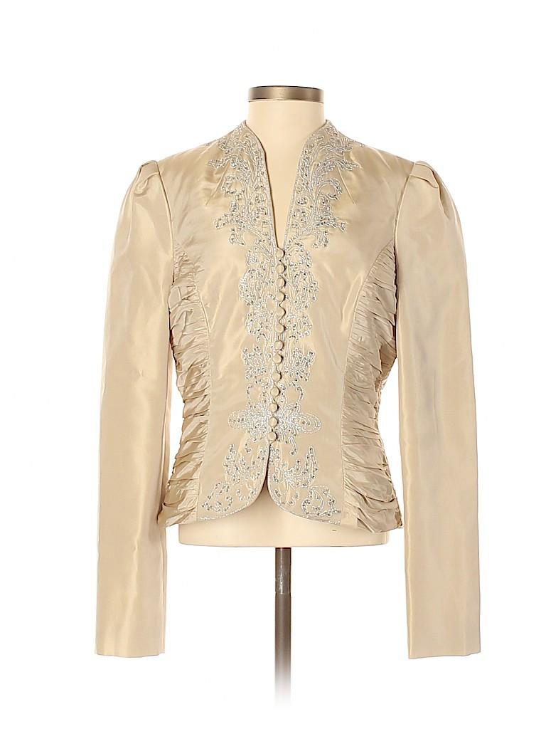 Badgley Mischka Women Silk Blazer Size 4