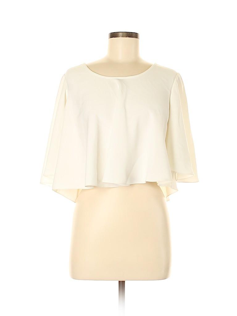 Badgley Mischka Women 3/4 Sleeve Blouse Size S