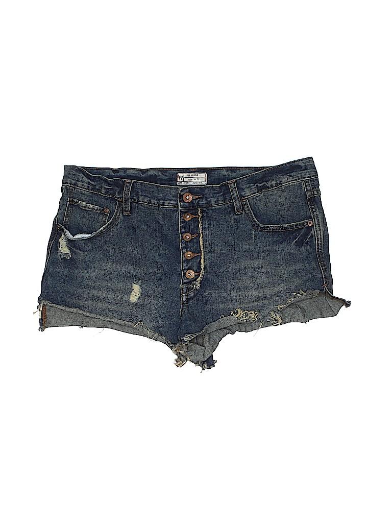 Free People Women Denim Shorts 31 Waist