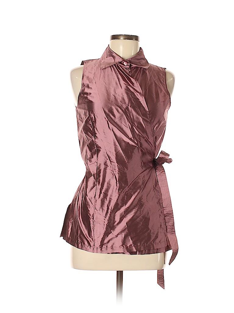 Max Mara Women Short Sleeve Silk Top Size 8