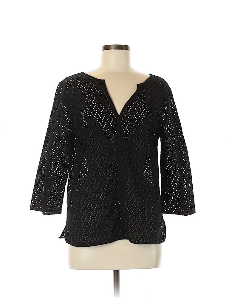 Talbots Women 3/4 Sleeve Blouse Size M