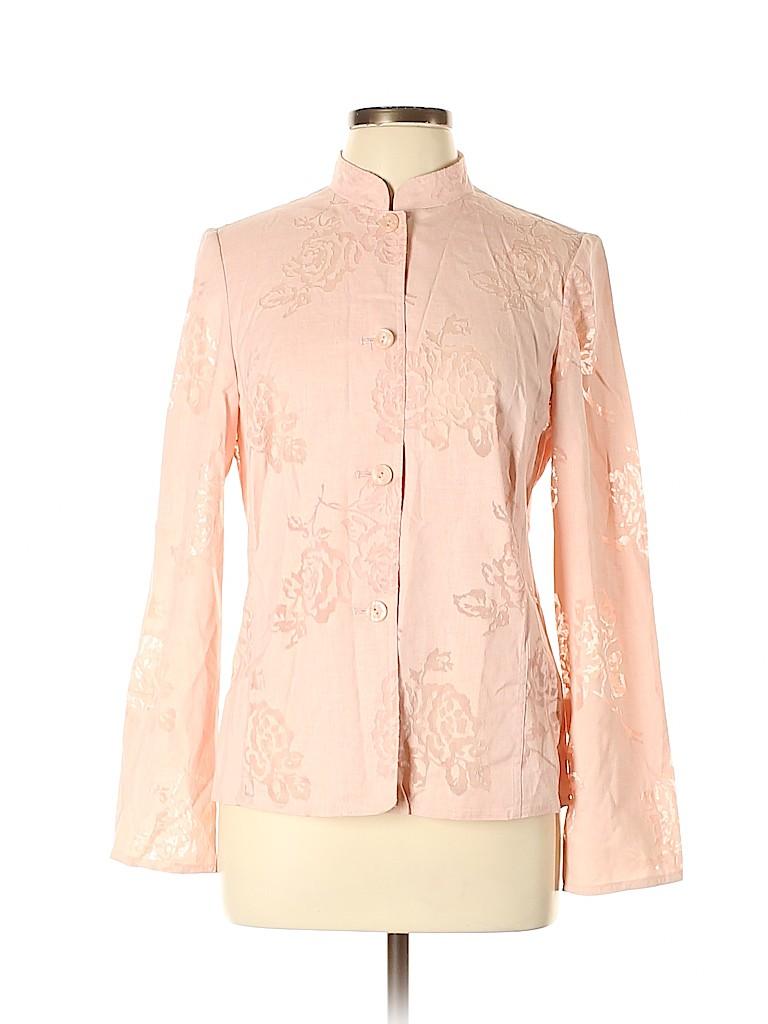 Evan Picone Women Long Sleeve Button-Down Shirt Size L