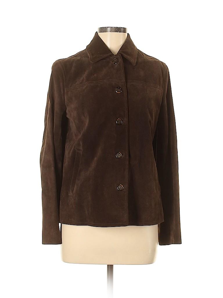 J. Crew Women Leather Jacket Size S