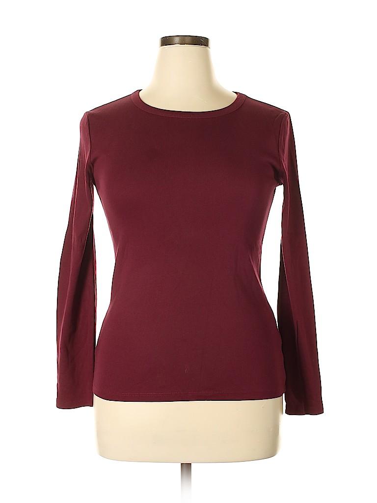 Joe Fresh Women Long Sleeve T-Shirt Size L