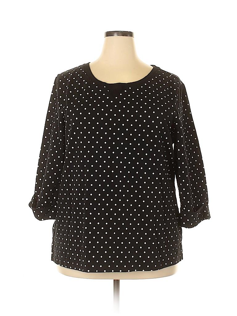 Karen Scott Women Sweatshirt Size 2X (Plus)