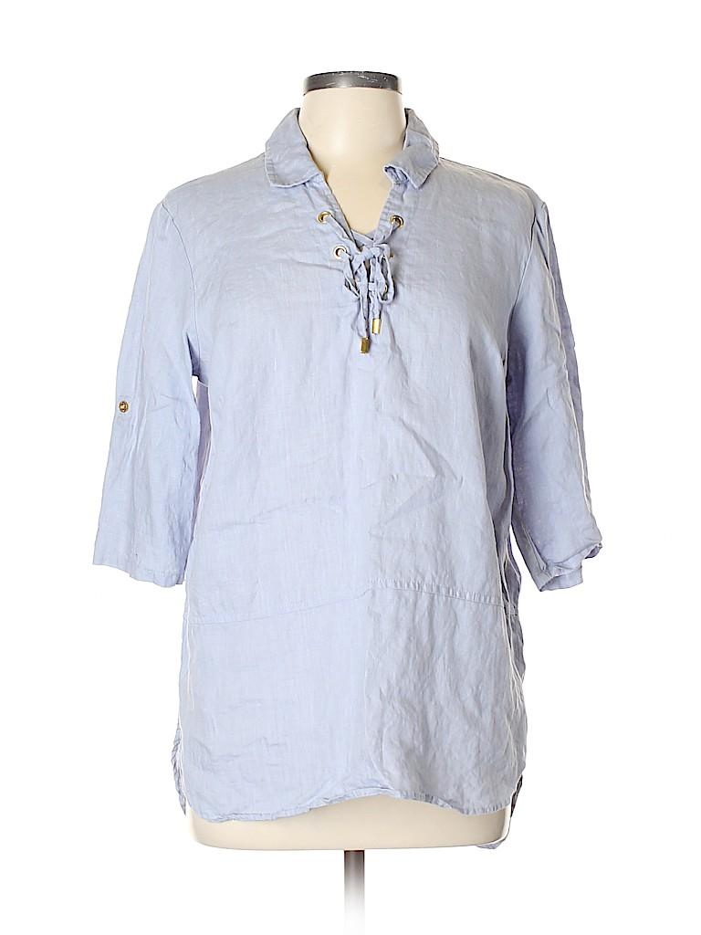 Ellen Tracy Women 3/4 Sleeve Blouse Size L