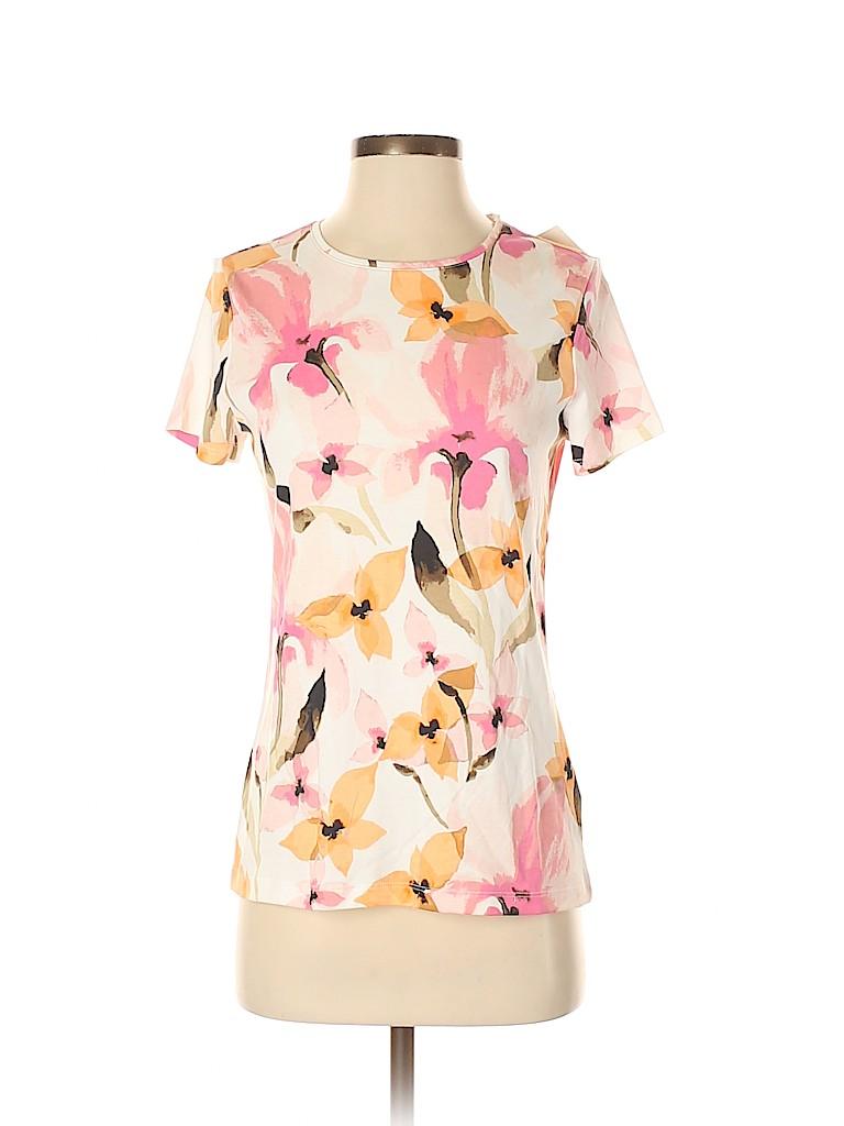 Croft & Barrow Women Short Sleeve T-Shirt Size XS