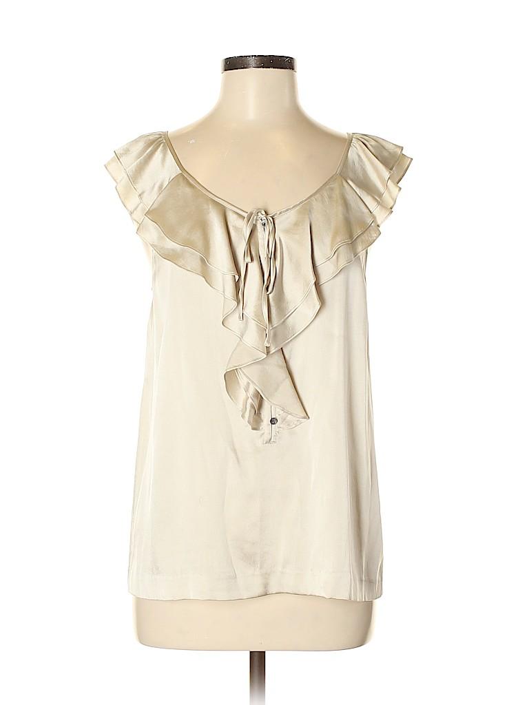 Theory Women Sleeveless Silk Top Size M