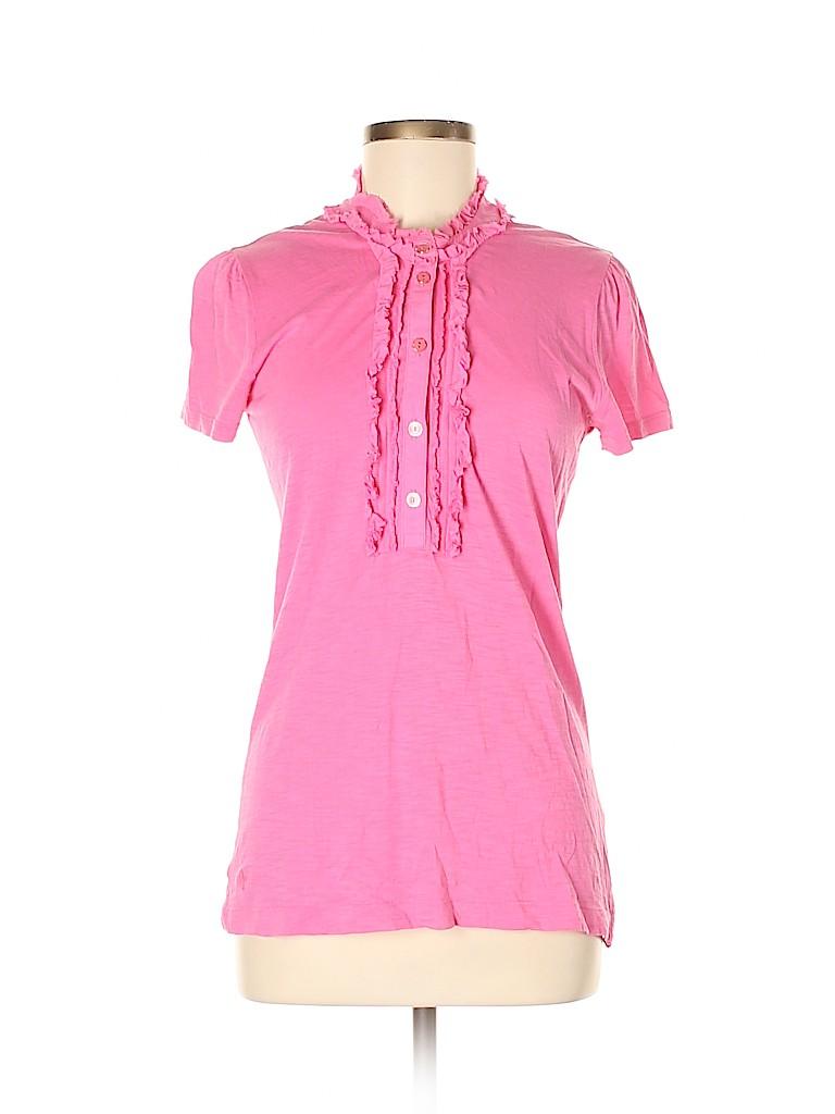 Lilly Pulitzer Women Short Sleeve Button-Down Shirt Size M